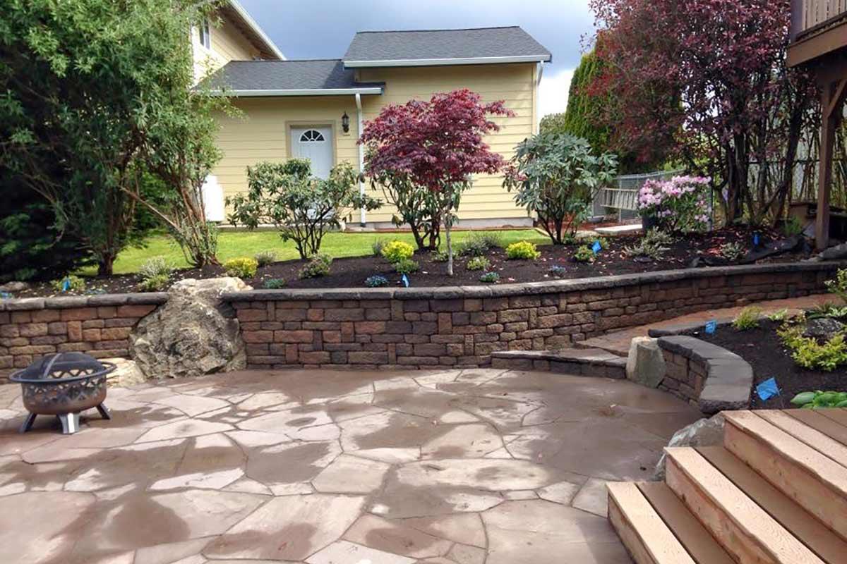 Agate Project, Olympia, Washington landscape project